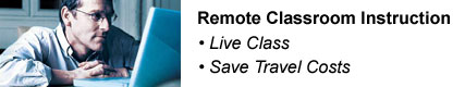 Remote Classroom Training – Live Class – Save Travel Costs