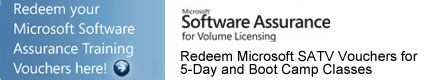 Redeem Microsoft SATV Vouchers for 5-Day and Boot Camp Classes