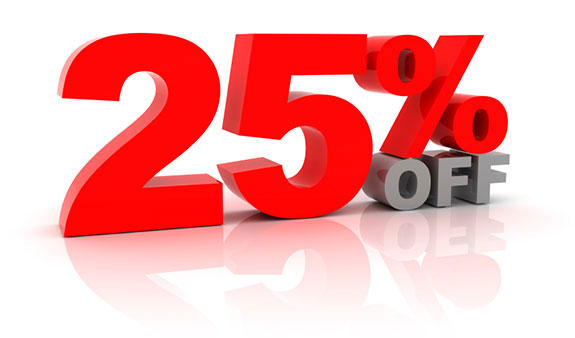 Save 25% NOW on Courses in 2015
