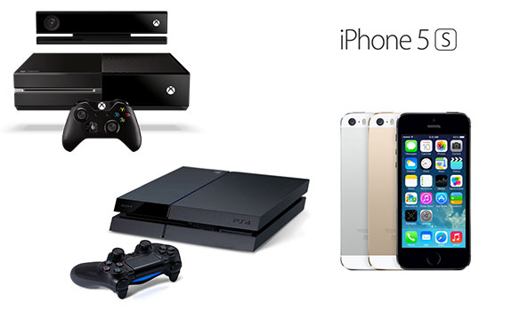 Choose an Xbox One w/Kinect, PlayStation 4 Game Console or iPhone 5s ...