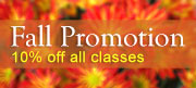Hurry, Fall Promotion - 10% Off All Classes - Pay by October 31st